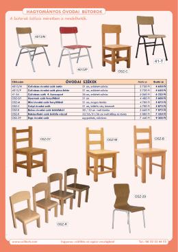 Hagyományos óvodai bútorok