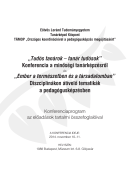 148x210 TKF fuzet.indd - Tudós tanárok - tanár tudósok