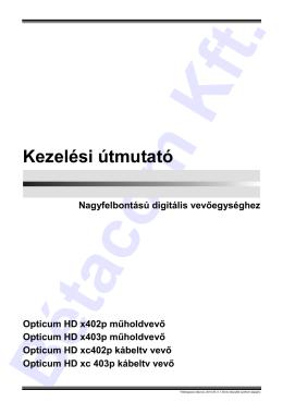 Opticum X400/XC400 használati útmutató