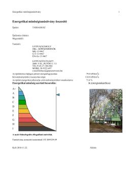 Energetikai minőségtanúsítvány összesítő