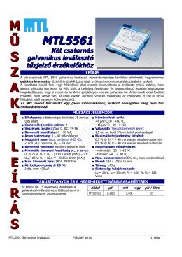 Műszaki leírás - Promatt Elektronika Kft.
