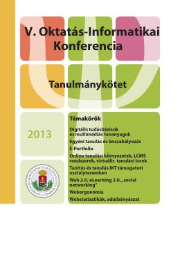 PDF - V. Oktatás-Informatikai Konferencia