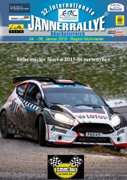 Janner Rally 2015 Információs füzet