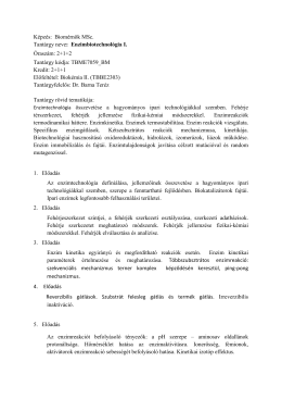 TBME7059_BM Enzimbiotechnológia I