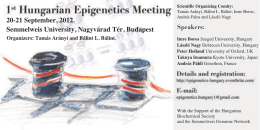 Abstracts- 1st Hungarian Epigenetic Conference 2012