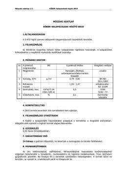 M SZAKI ADATLAP KÖBER-KALAPÁCSLAKK HÍGÍTÓ D810 1