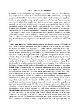 Sándor Tibor írása a 2014.09.24. A38 koncertről