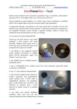 otthoni teszt - Data Tresor Disc Hungary