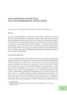 Magyarország potenciális vegetációtérképének modellezése