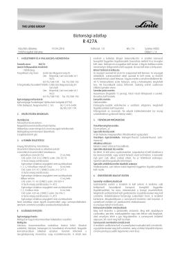 R 427A - Linde Gáz Magyarország Zrt.