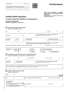 Antrag auf Kindergeld KG1 (Ungarisch)