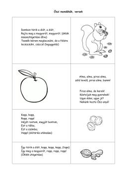 Őszi versek gyerekeknek