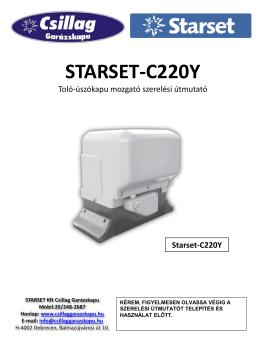 Starset-C220Y - Csillag garázskapu