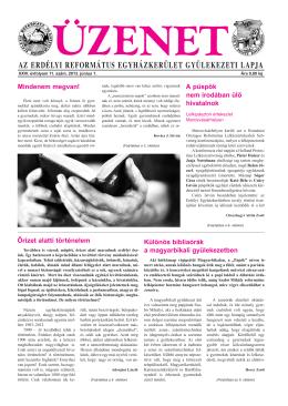 2013. június 1. lapszám.pdf - Erdélyi Református Egyházkerület