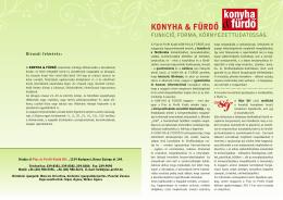 KONYHA & FÜRDŐ - Piac & Profit