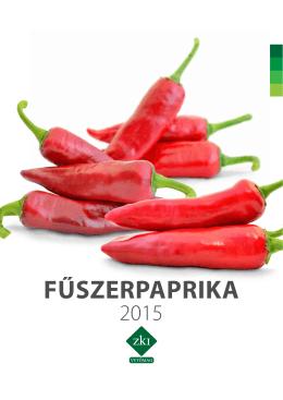 FŰSZERPAPRIKA - ZKI Zöldségtermesztési Kutató Intézet ZRt.