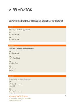 A FELADATOK - easyMaths.hu