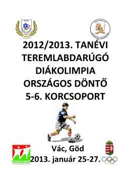 Teremlabdarúgás / Futsal (pdf) - MDSZ