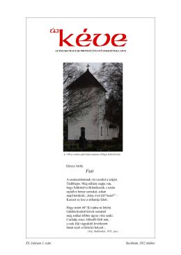Megjelent az Új Kéve 2012-3. száma