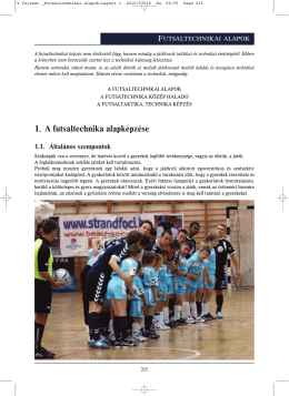 V fejezet _Futsaltechnikai alapok
