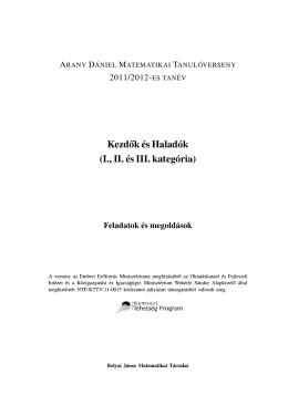 Megoldások - Bolyai János Matematikai Társulat