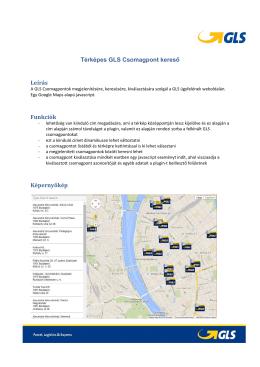 Térképes GLS csomagpont kereső