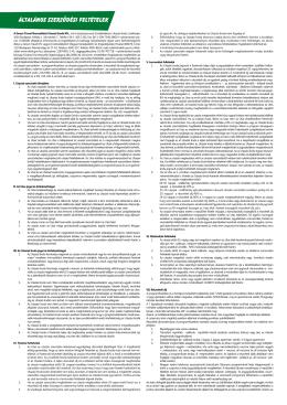 Horvátország Általános Szerződési Feltételek