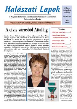 Október - Magyar Haltermelők és Halászati Vízterület