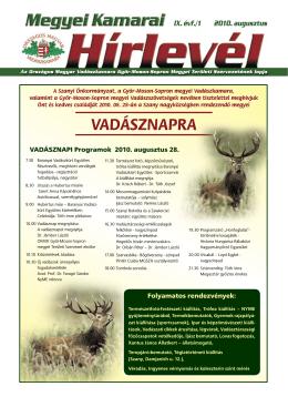 vadásznapra - Győr-Moson-Sopron megyei Vadászkamara - T