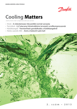 Cooling Matters 2 2013