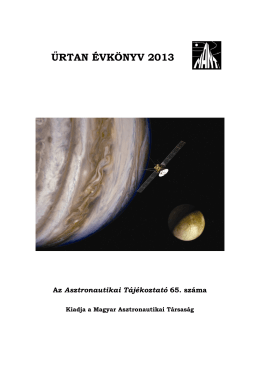 ŰRTAN ÉVKÖNYV 2013 - Magyar Asztronautikai Társaság