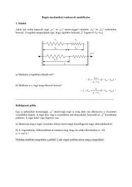Rugós mechanikai rendszerek modellezése 1. feladat Adott két