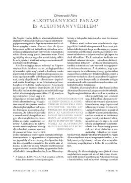 Chronowski Nóra: Alkotmányjogi panasz és