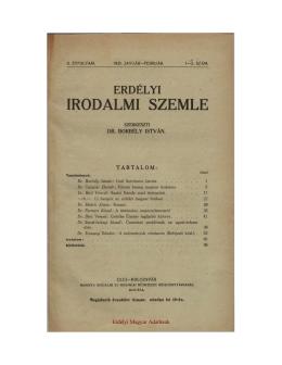 egyrétegű pdf - Erdélyi Irodalmi Szemle