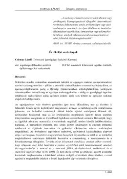 Értékelési szabványok - Magyar Igazságügyi Szakértői Kamara