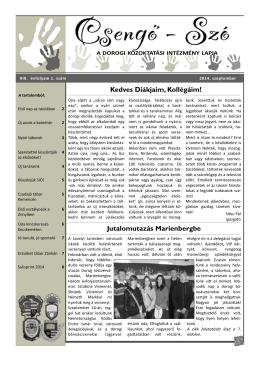 Szó 2014. szeptember - októberi számának letöltése pdf formátumban!