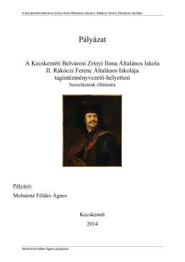 Pályázat - Tóth László Általános Iskola