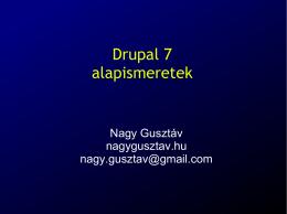 Drupal 7 alapismeretek