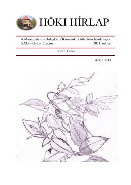 Höki 2011 05 - Máriaremete-Hidegkúti Ökumenikus Általános Iskola