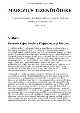 PDF formátum - Marczius Tizenötödike