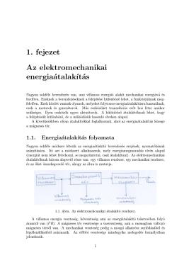 Elektromechanikai energiaátalakítás