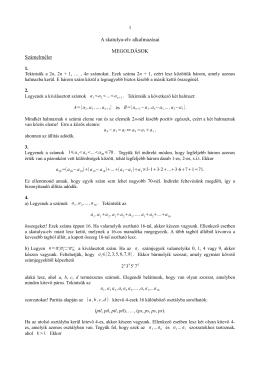 A skatulya-elv alkalmazásai MEGOLDÁSOK Számelmélet