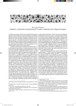 """Indokolt-e """"történelmi arisztokráciáról"""" beszélni a dualizmus kori"""