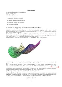 1. Parciális függvény, parciális derivált (ismétlés)