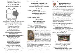 2015. márciusi programok