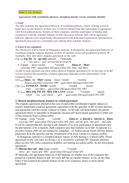 Agreement with coordinate phrases: morphosyntactic vs semantic