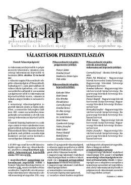 falulap-2014-09 - Pilisszentlászló