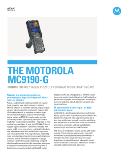THE MOTOROLA MC9190-G