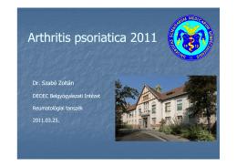 Arthritis psoriatica 2011 [Kompatibilitási mód]