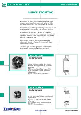 Chiaravalli Kúpos szorítók katalógus - Tech-Con